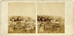 McGlashon's Scottish Stereographs  -  Edinburgh Old Town from Burns' Monument
