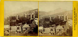 Stereoscopic View by Walter Greenoak Patterson  -  View from Calton Hill towards Holyrood