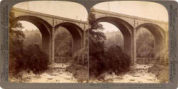 Stereo View of Dean Bridge over the Water of Leith, near the West End of Princes Street -  Underwood & Underwood