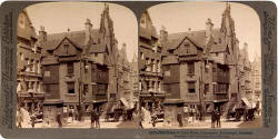 Stereo View of John Knox House in the Royal Mile  -  Underwood & Underwood