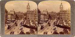 Underwood & Underwood  -  Stereo View looking to the east along Princes Street towards Calton Hill