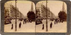 Underwood & Underwood  -  Stereo view looking to the east along Princes Street towards the Scott Monument