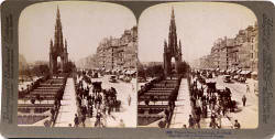 Underwood & Underwood  -  Stereo View of Princes Street, looking to the west from Waverley towards the Scot Monument