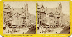 Stereoscopic View by Valentine  -  John Knox House in the Royal Mile