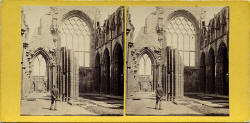 GW Wilson stereo card  -  Interior of Holyrood Chapel