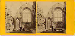 Stereo view by George Washington Wilson - Holyrood Chapel