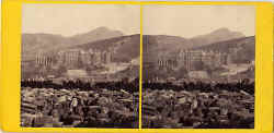 Stereo view by George Washington Wiilson - Holyrood Palace from Calton Hill