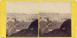 Stereo view by George Washington Wilson - The Scott Monument and Carriages in Princes Street