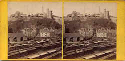 Stereo view by George Washington Wilson - Calton Hill from the North Bridge