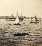 Enlargement of a stereo view by G W Wilson  -  An instantaneous view of 'Royal Albert' in the Firth of Forth