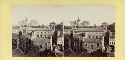 A stereo view by an unidentified photographer  -  Heriot's Hospital