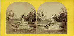 Stereo view by an unidentified photographer  -  Holyrood Abbey  -  Queen Mary's Dial