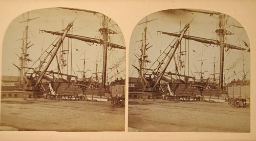 Stereo View of Leith Docks  -  Unidentified Photographer