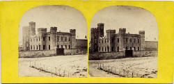 A stereo view by an unidentified photographer  -  Portobello Castle