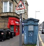 Police Box in Easter Road, beside the Polish shops, at the bridge over the railway to the south of Albion Road  -  October 2010