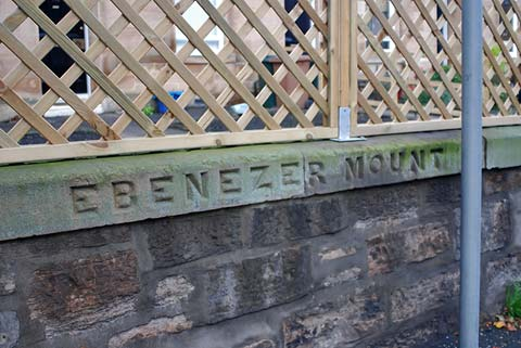 Old street names on buildings and walls  in Leith  -  Ebenezer Mount