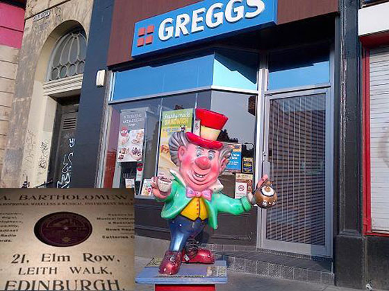 Greggs bakers shop, formerly A Bartholemew's Gramaphone & Radio Dealers at 21 Elm Row