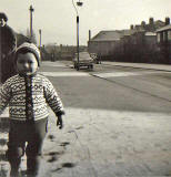 Ed Thomson's son in Fraser Avenue, 1965