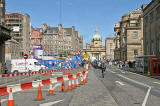 Construction at the corner of North Bridge and the Royal Mile  -  view from in front of Edinburgh Central Library  -  Septemer 2007