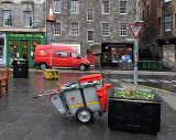 Mail Delivery Van and Dust Cart at Grassmarket, Edinburgh  -  December 2011