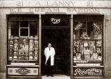 A Lanny and his ice cream shop in Henderson Street, Leith,1924