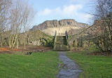 The steps into Holyrood Park at the end of Heriot Mount.  The tenements in Heriot Mount were demolished around the 1960s.