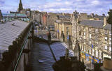 Looking up the Royal Mile from the roof of St Gile's Church