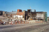 Demolition of brewery buildings in Holyrood Road  -  1995
