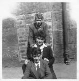 Three boys near the Howe Street end of Jamaica Street, around 1952