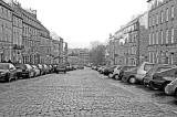 Looking down India Street to Stockbridge from Heriot Row  -  December 2007