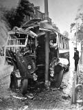Inverleith Row  -  Bus and Lamp Post Crash - 1948
