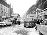 Leith Street - Traffic in the snow, 1956