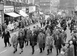Miners' Gala Day - March up Leith Street, 1960