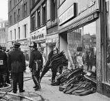 Leith Street - Fire at Neville Reed, 1966