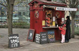 Snack Bar in front of St Mary's Roman Catholic Cathedral at the top of Leith Walk