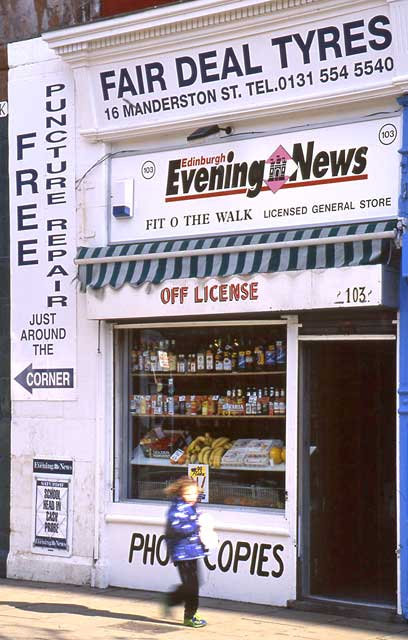 Edinburgh Shops  -  103 Leith Walk  -  1999