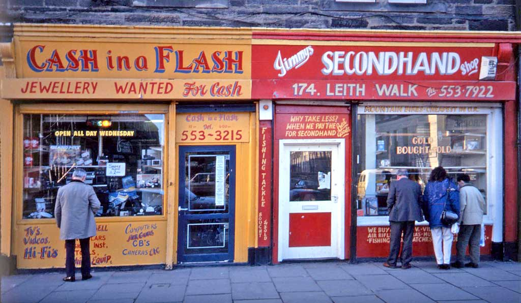 Edinburgh Shops  -  176+174 Leith Walk  -  1991