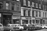 Bandparts, Deep Sea Restaurant and other shops in Union Pace, Leoith Walk, Edinburgh.  Photo taken around 1968.