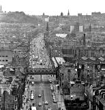 Looking down on Leith Walk  -  Looking SW towards the East End of Princes Street