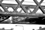 Manderston Street Bridge over Leith Wlak, near the 'Fit o' the Walk' being demolished, 1980