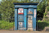 Police Box in Melville Drive beside the entrance to Jawbone Walk in The Meadows  -  For Sale, May 2012