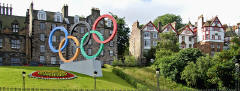 Olympic Rings on The Mound  -  July 2012