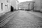 Cobbles at the top of Arthur Street, now named New Arthur Place