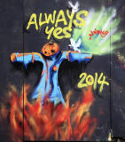 Street Art and Graffiti, New Street, Edinburgh  - November 2014