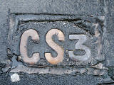 'CS3' sign in the pavement at Waterloo Place.  What is the meaning of this sign?