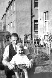 Bob sinclair and his dad - Photo taken behind 317 Pilton Avenue, around 1938