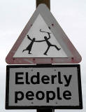 Portobello Road, Edinburgh  -  Unofficial Road Sign 'Elderly People'