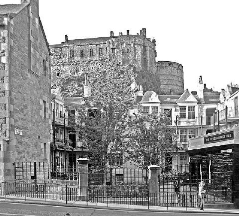 Portsburgh Square on the north side of West Port close to the Grassmarket
