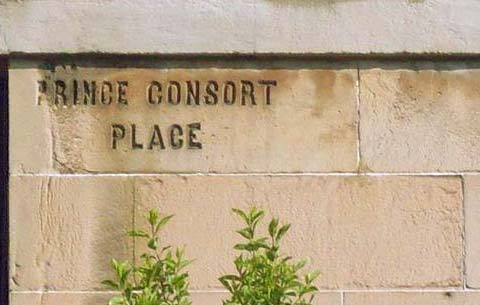Old street names on buildings in Leith  -  Prince Consort Place, Leith