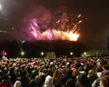 Edinburgh Festival Fireworks Concert  -  View from near the junction of Princes Street and Frederick Street